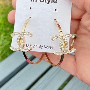 ✨NEW✨Crystal Hoop Earrings!